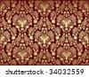 Vector decorative royal seamless floral ornament - stock photo