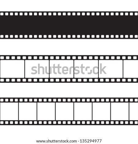 Vector film strip illustration - stock photo