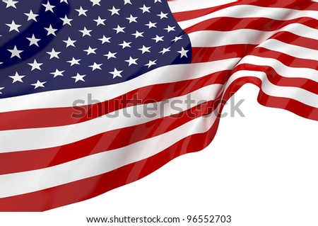 Vector Flags of America - stock photo