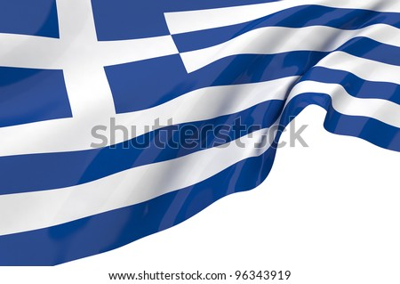 Vector Flags of Greece - stock photo