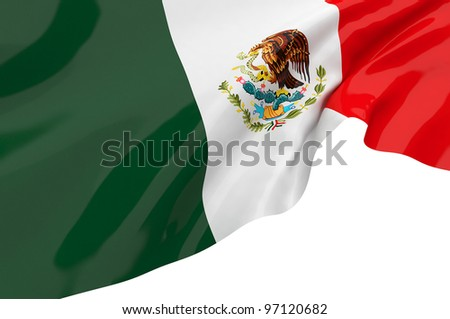 Vector Flags of Mexico - stock photo