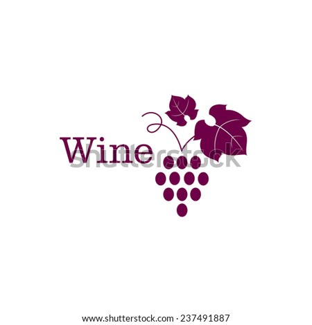 Vector Illustration of a Wine Icon - stock photo