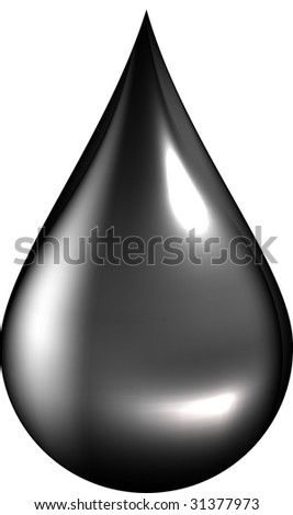 Vector illustration of oil drop - stock photo