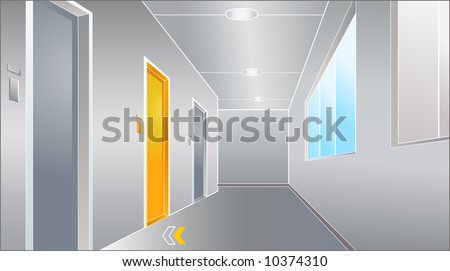 vector illustration of the door to bright future - stock photo