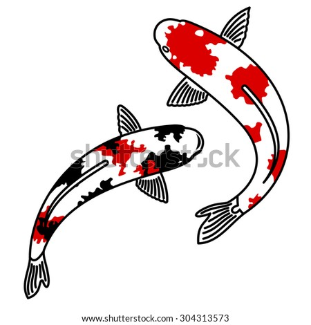 Hokusai stock photos images pictures shutterstock for Koi fish vector