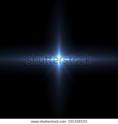 Vector lens flare - stock photo