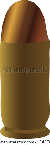 vector of a bullet - stock photo