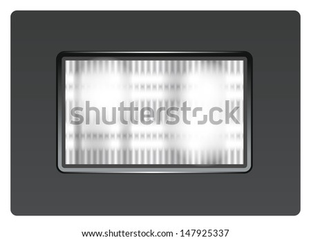 Vector photo flash light for app icons - stock photo
