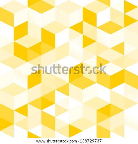 Vector seamless pattern of simple geometrical shapes - stock photo