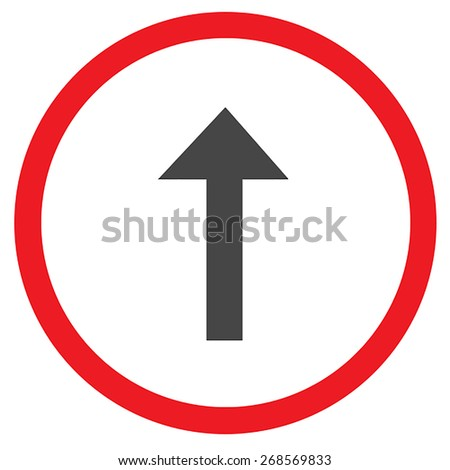 vector traffic sign on white background - stock photo