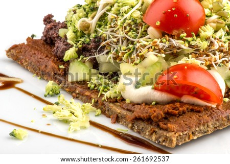 vegan pizza - stock photo