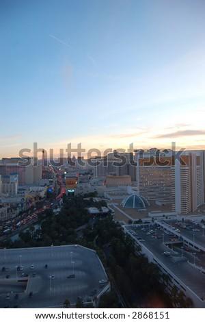 Vegas at sunset - stock photo