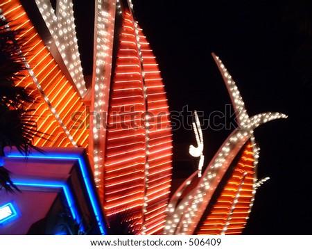 vegas lights - stock photo