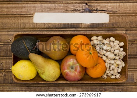 Vegetable and fruit set, preventing the negative smell of sweat. - stock photo