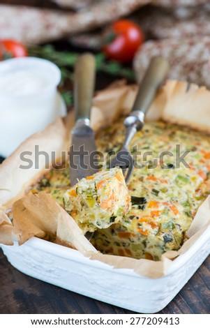 Vegetable casserole - stock photo