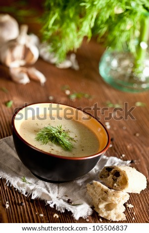 Vegetable cream soup - stock photo
