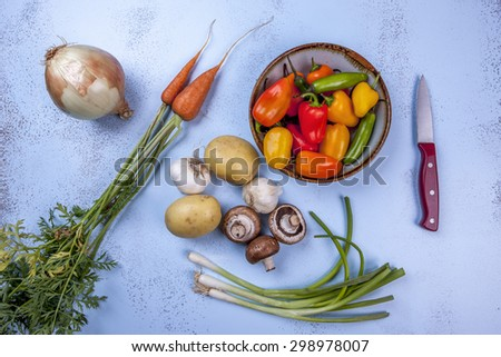 Vegetable ingredients. - stock photo