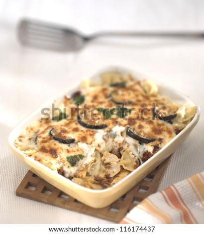 vegetable lasagna - stock photo
