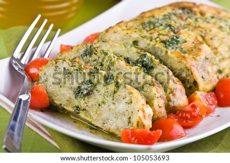 Vegetable meatloaf. - stock photo