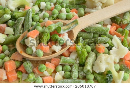 vegetable  mix for soap - stock photo