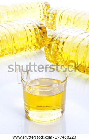 vegetable oil for cooking. - stock photo
