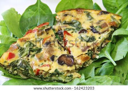 Vegetable quiche - stock photo