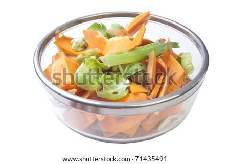 vegetable salad - stock photo