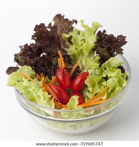 Vegetable salad bowl  - stock photo