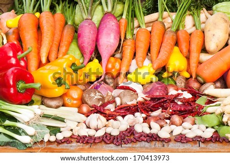 Vegetables and spices - stock photo