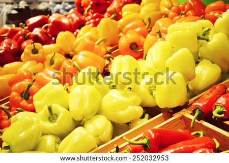 Vegetables in grocery store - stock photo