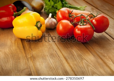vegetables on table - stock photo