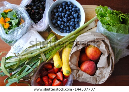 Vegetables on the farmer market - stock photo