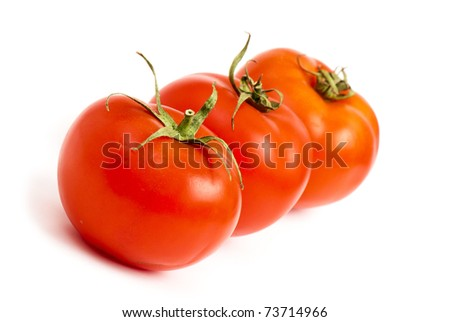 vegetables on the white isolated background.  Studio photo - stock photo