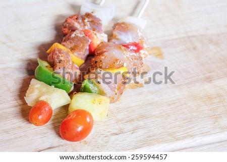 Vegetarian bbq and corncob  - stock photo