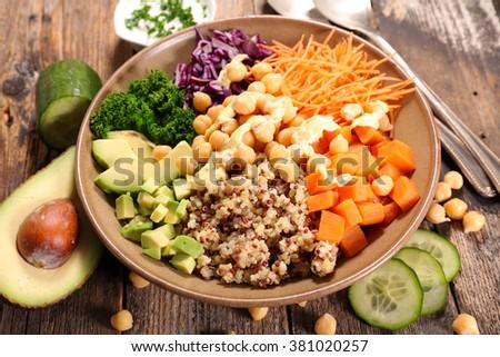 vegetarian bowl meal - stock photo