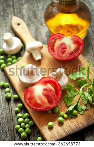 vegetarian diet-vegetarian food - stock photo