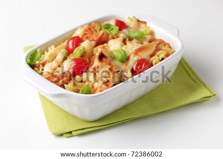 Vegetarian pasta - stock photo