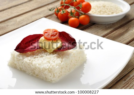 vegetarian rice - stock photo