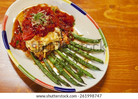 Roast Chicken And Grilled Eggplant Lasagna Recipe — Dishmaps