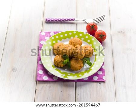 vegetarian tofu meatballs - stock photo