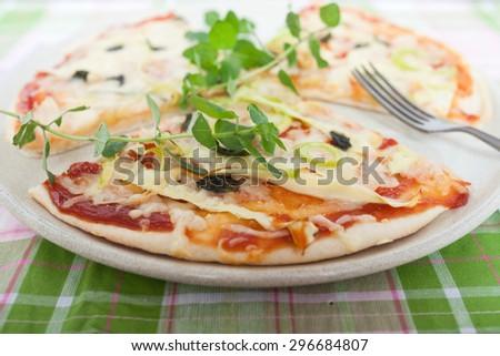 Vegeterian Pizza - stock photo