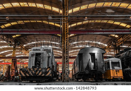 Vehicle repair station interior - stock photo