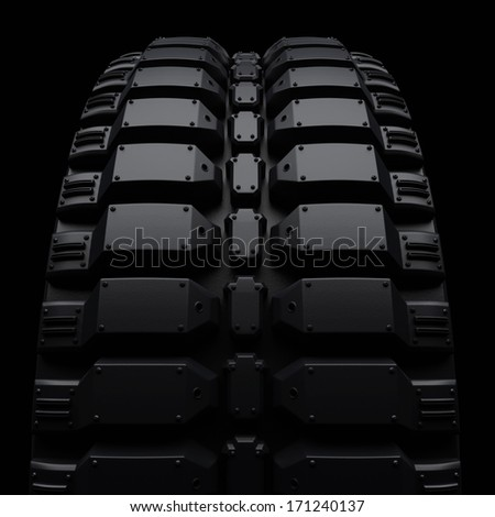 Vehicle tires (clipping path) - stock photo