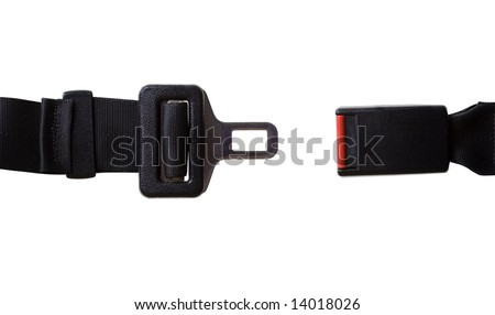 Vehicles Seat Belt - Isolated on White with Clipping Path - stock photo