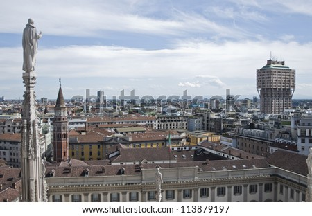 Velasca Tower in Milan, Italy - stock photo