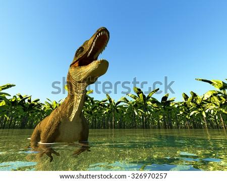 velociraptor the dinosaur - stock photo