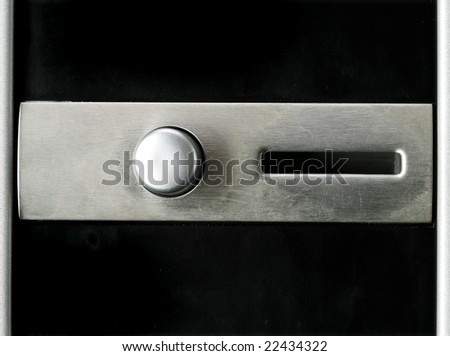 vending machine coin feeding hole - stock photo