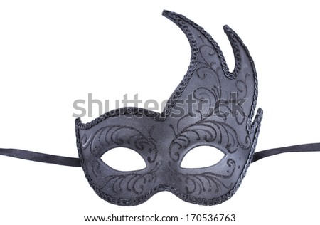 Venetian black mask  - stock photo