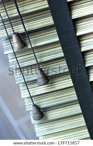 Venetian blind on a window in a house - stock photo