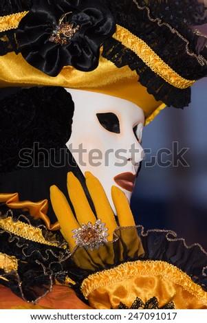 Venetian Carnaval mask - stock photo